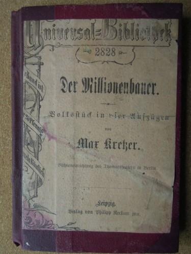 Der Millionenbauer Max Kretzer