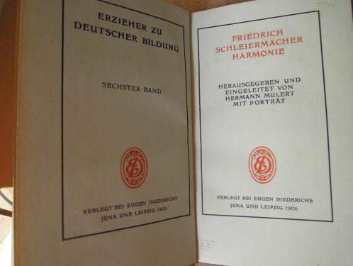 Friedrich Schleiermacher Harmonie 1906 Buch