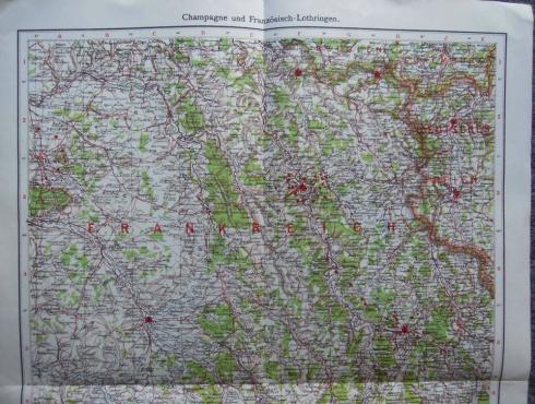 Champagne und Französisch-Lothringen Karte map