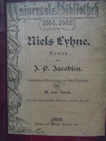 Niels Lyhne Jens Peter Jacobsen Roman