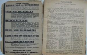Plane Von Wien Freytag and Berndt's map