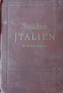 Baedeker's Italien 1890 cover
