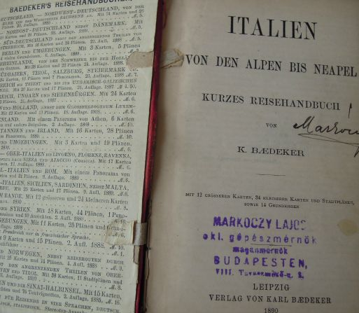 Baedeker's Italien 1890
