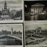 Old black and white Paris postcard