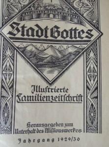 Stadt Gottes Illustrierte Familienzeitschrift 1929-1930