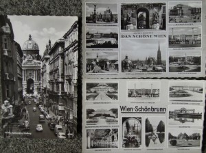 Old black and white Wien postcard