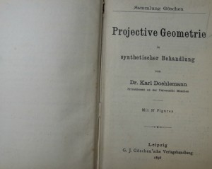 Projective Geometrie Leipzig 1898