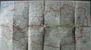 Österreich Karte map 1936