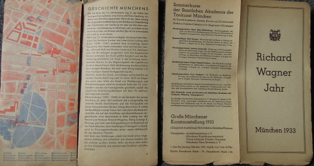 München Karte map and guide buch cca 1933