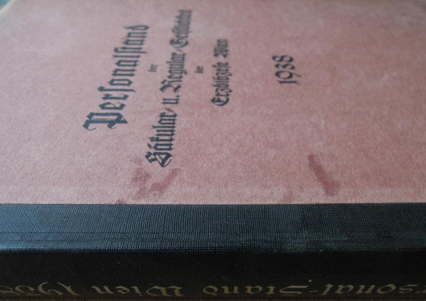 Personalstand der Säkular- und Regular- Geistlichkeit der Erzdiözese Wien 1938