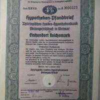 Hypotheken Pfandbrief 1000 Reichsmark 1942