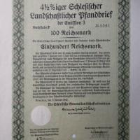 Landschaftlicher Pfandbrief 100 Reichsmark 1940