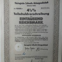 Teilschuldverschreibung 1000 Reichsmark 1943