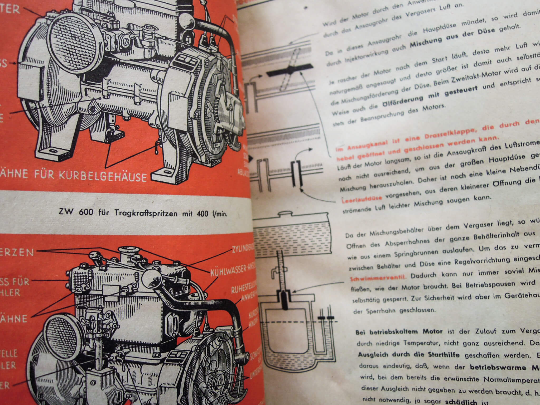 Auto Union DKW Motoren Fibel 1944