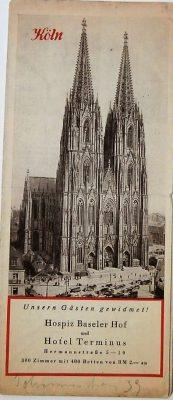 Köln Karte Cologne map  cca 1931