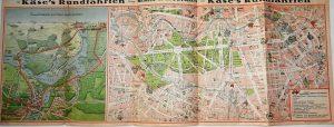 KASE'S RUNDFARHTEN BERLIN POTSDAM 1928 Karte map