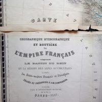 La France Karte France map 1861 Andriveau-Goujon
