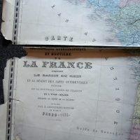 La France Karte France map 1876 Andriveau-Goujon