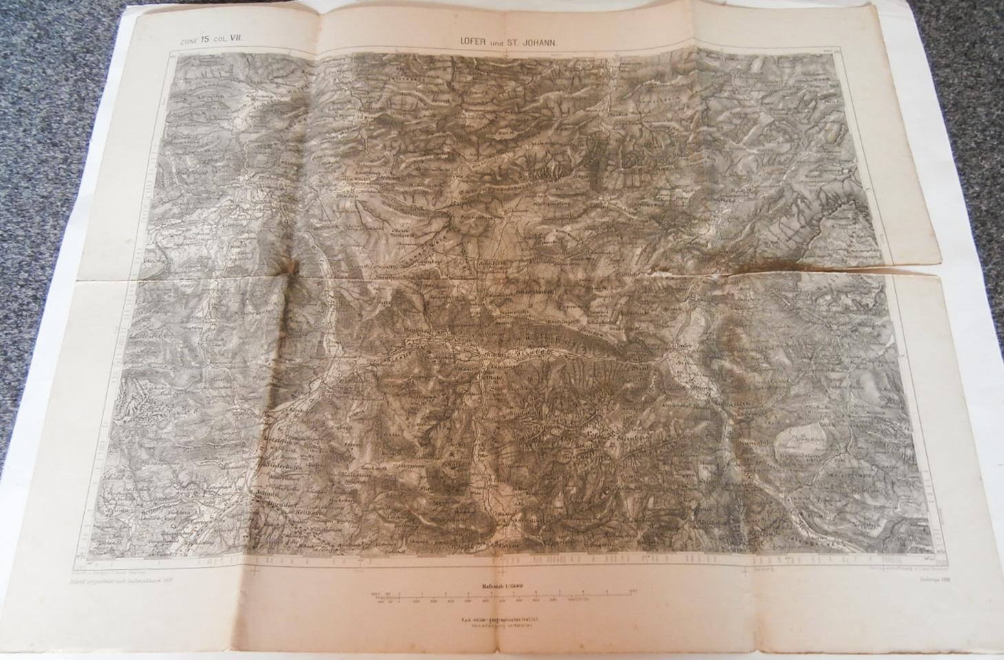 Lofer und St. Johann Österreich Austria Karte map 1890
