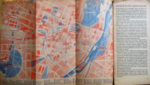 München Karte und Reiseführer 1933 map