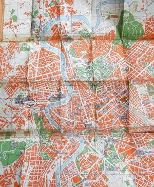 Stadtplan von Roma  map Karte pianta plan mapa