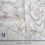 Stadtplan von Roma map Karte pianta plan mapa 1875-1943 Leipzig 2