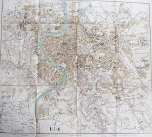 Stadtplan von Roma  map Karte pianta plan mapa 1875-1943 Leipzig
