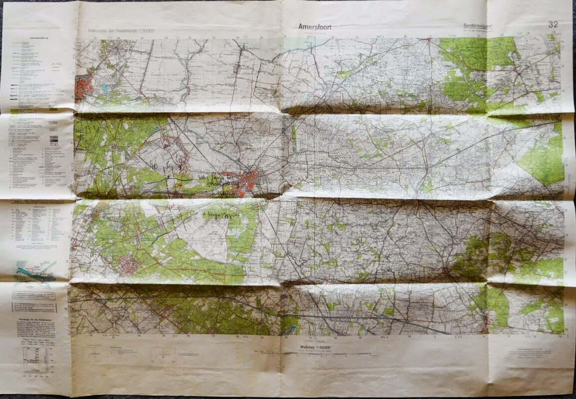 Amersfoort Stabskarte der Niederlande map 1936