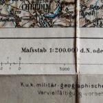 Kriegsschauplatz Nordböhmen 1866 Karte map