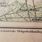 Paris und Umgegend 1870/71 Karte Plan map