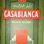 Casablanca Marocco Plan Guide map 1971