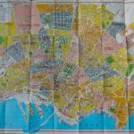 Casablanca Marocco Plan Guide map 1971
