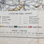 Karte der Österreichisch-Russischen Grenzgebiete Austria Russia border map