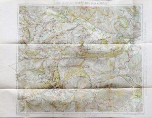 Karte des Semmering und Umgebung Österreich Austria map