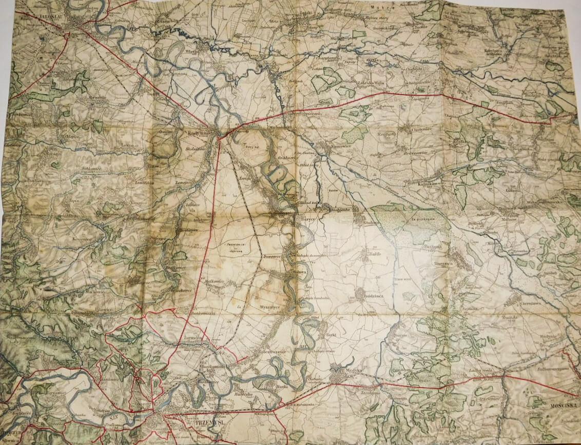 Jaroslav Przemysl Radymno Poland military map Polska mapa