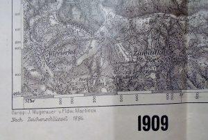 Dobczyce Myslenice Wieliczka Poland military map karte 1909