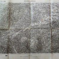 Dobczyce Myslenice Wieliczka Poland military map karte 1909 Polska mapa