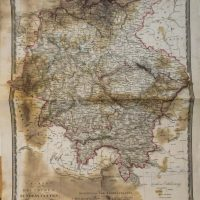 Karte der Deutschen Bundesstaaten 1827 map Germany