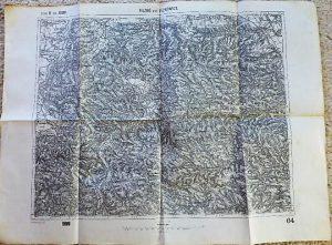 Pilzno Ciezkowice Tuchow Poland military map Karte Plan 1909