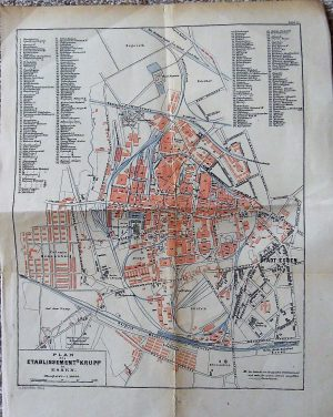 Plan des Etablissement's Krupp in Essen map Karte