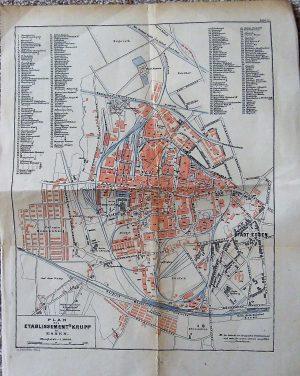 Plan des Etablissement's Krupp in Essen map Karte