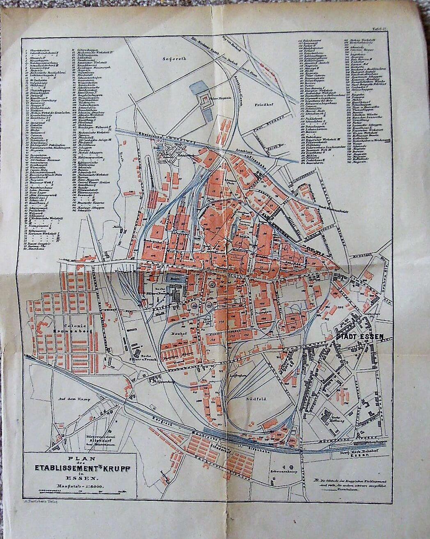 Plan des Etablissement's Krupp in Essen