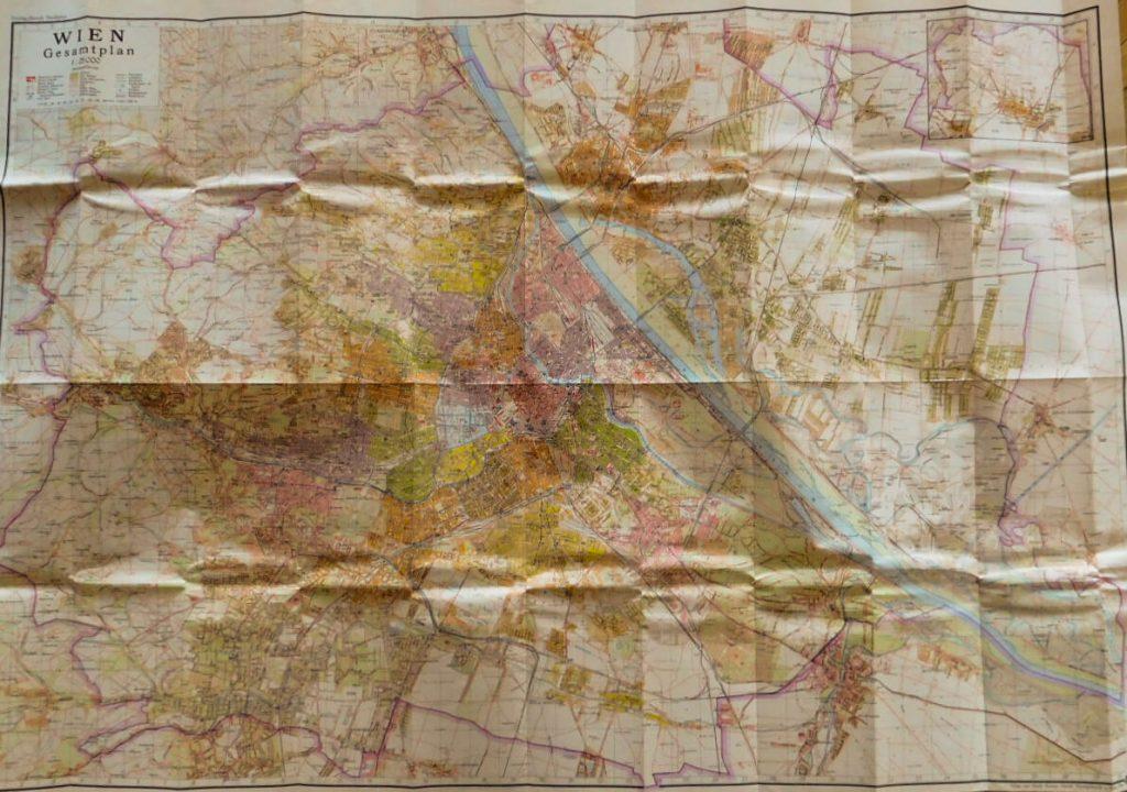 Plane Von Wien Gesamtplan map