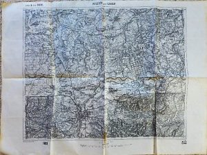 Rzeszów Lancut Sokolow Poland military map Karte Plan 1909