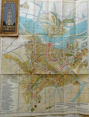 Führer durch Amsterdam Das Nordische Venedig map  guide book cca 1930