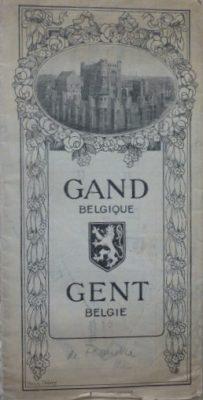 Gent Belgie Belgium map plan carte cca 1930