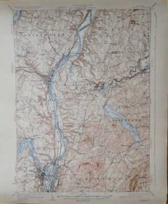Troy Cohoes New York USA topographical map 1929