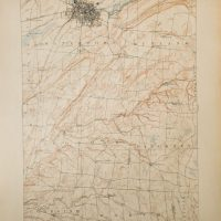 Watertown New York USA topographical map 1909