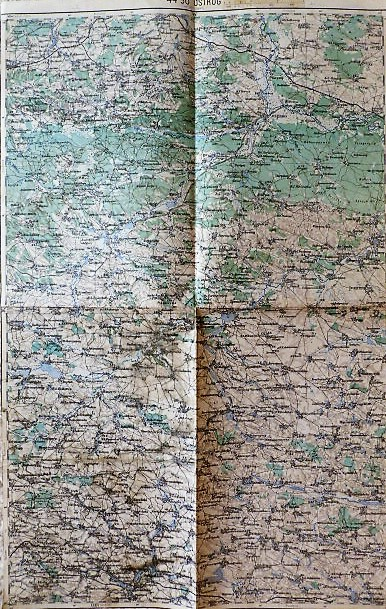 Ostrog Teofipol Galizien Ukraine german military map