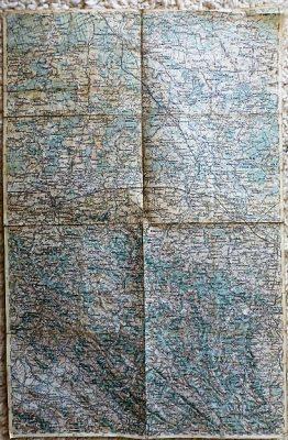 Przemysl Jaroslau Rzeszow Lancut Poland military map Karte cca 1930